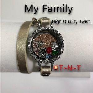 Jewelry - My Family HQ Twist Locket Wrap Bracelet